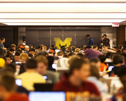 university of michigan uses nfc wristbands for mhacks