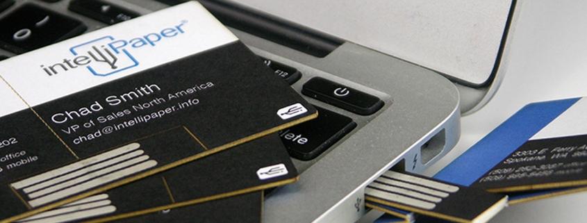 swivelCard intelliPaper business card nfc qr barcode usb paper