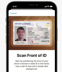 apple wallet nfc contactless identification card id passport drivers license